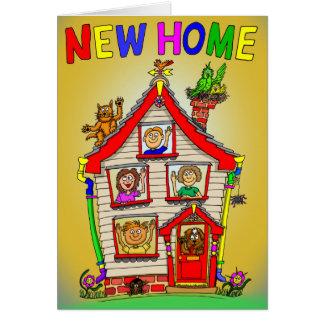 新しい家の漫画の家 カード