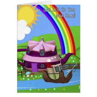 新しい家の漫画のTepotの家の挨拶状 カード