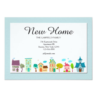 新しい家の移動発表 12.7 X 17.8 インビテーションカード