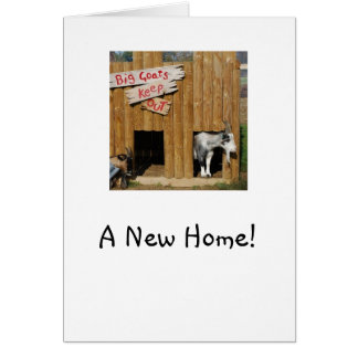 """""""新しい家の""""家暖まるカードピグミーのヤギ グリーティングカード"""