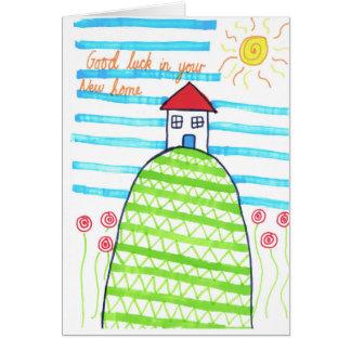 新しい家カード グリーティングカード