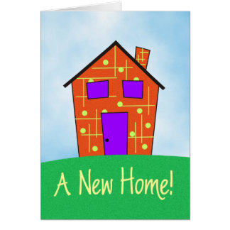 新しい家! グリーティングカード