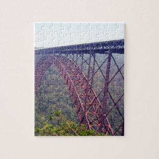 新しい川峡谷橋 ジグソーパズル