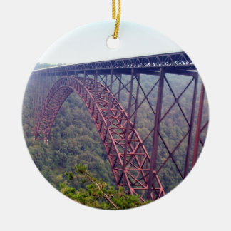 新しい川峡谷橋 セラミックオーナメント