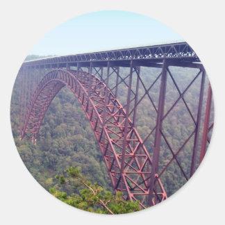 新しい川峡谷橋 ラウンドシール