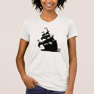 新しい微風の前のWindshipのくねり Tシャツ