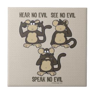 新しい悪猿を-聞かないで下さい タイル