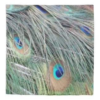 新しい成長を用いる孔雀の羽 掛け布団カバー