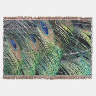 新しい成長を用いる波立たせられた孔雀の羽 スローブランケット
