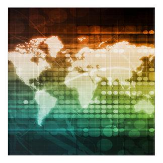 新しい技術の世界的な技術および固まりの採用 アクリルウォールアート