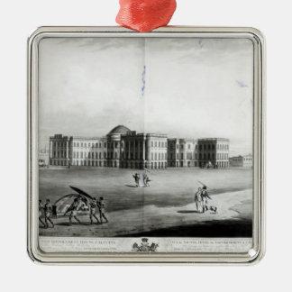 新しい政府の家の南東の眺め シルバーカラー正方形オーナメント