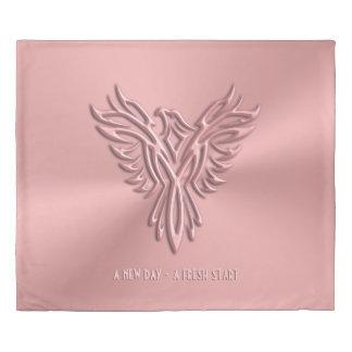 新しい日、フェニックスのピンクの上昇-再出発 掛け布団カバー