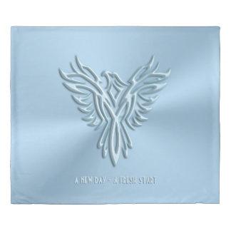 新しい日、上昇再出発-淡青色のフェニックスの 掛け布団カバー