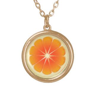 新しい柑橘類のデザイン、かわいいカラフル ゴールドプレートネックレス
