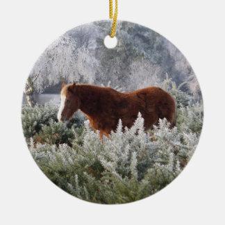 新しい森林子馬のオーナメント 陶器製丸型オーナメント