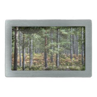 新しい森林森林木の自然場面 長方形ベルトバックル