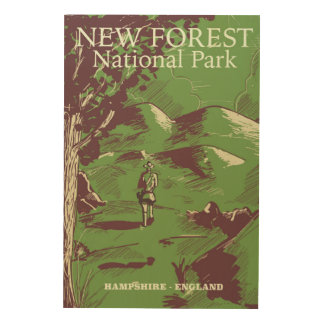 新しい森林、ハンプシャー、イギリス ウッドウォールアート