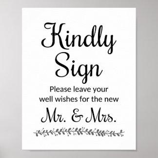 新しい氏および夫人のためのSign -ロチェスター願いを結婚します ポスター