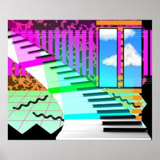新しい波のピアノ ポスター