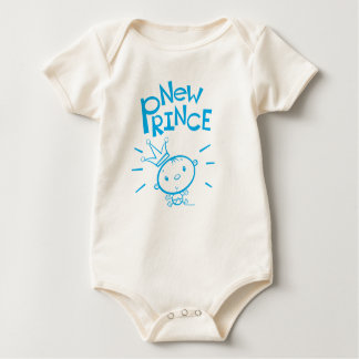 新しい王子男の赤ちゃんのTシャツ ベビーボディスーツ