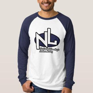 新しい生命Lg。 袖の白及び海軍ティー Tシャツ