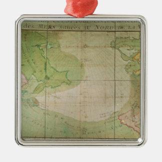 新しい発見の地図 メタルオーナメント