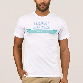 新しい祖父、祖父母の日は年を個人化します Tシャツ