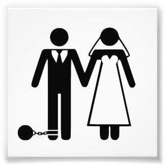 新しい管理の下のたった今結婚しました、 フォトプリント