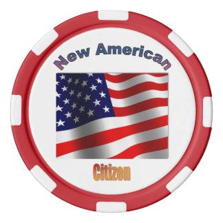 新しい米国の市民 ポーカーチップセット