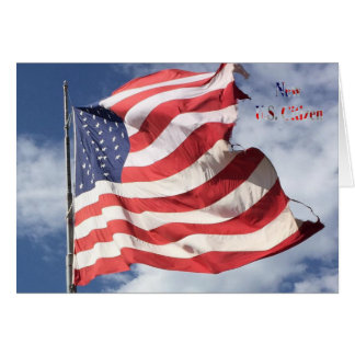 新しい米国の市民: 旗の飛行 カード