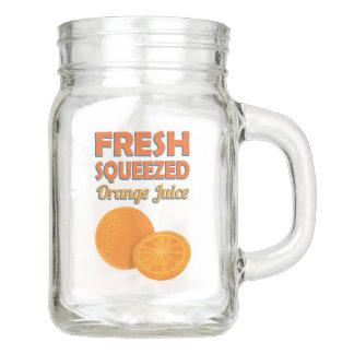新しい絞られたオレンジジュース メイソンジャー