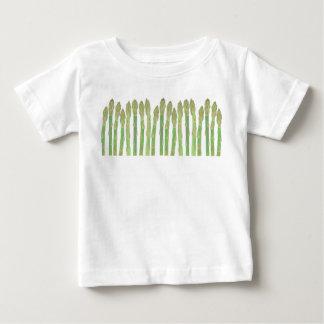 新しい緑のアスパラガスのTシャツ ベビーTシャツ