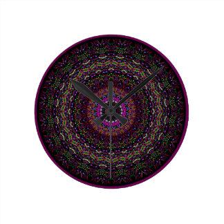 新しい線形ラズベリーの万華鏡のように千変万化するパターン ラウンド壁時計