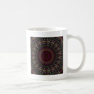 新しい線形円のあずき色の万華鏡のように千変万化するパターン コーヒーマグカップ