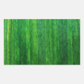 新しい芝生の絵画 長方形シール