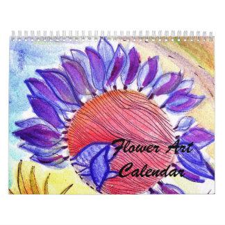 新しい花の芸術のカレンダー カレンダー