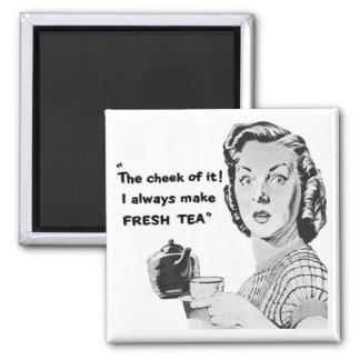 新しい茶台所磁石(ヴィンテージの広告) マグネット