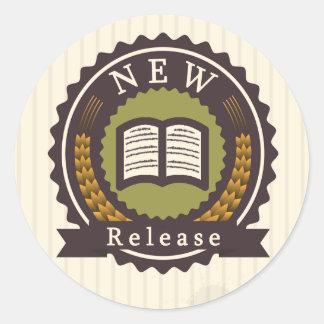 新しい解放の本のステッカー ラウンドシール