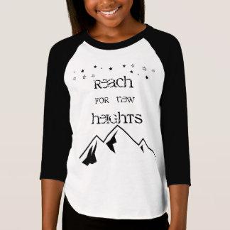 新しい高さの女の子のRaglanのための範囲 Tシャツ