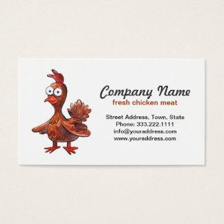 新しい鶏肉製造者の名刺 名刺