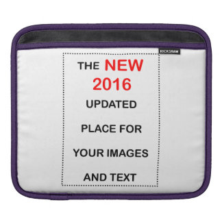 新しい2016はイメージおよびテキストのための場所を更新しました iPadスリーブ