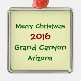 新しい2016グランドキャニオンのアリゾナのクリスマスのオーナメント メタルオーナメント