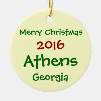 新しい2016年のアテネジョージアのメリークリスマスのオーナメント セラミックオーナメント