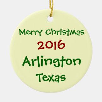新しい2016年のアーリントンテキサス州のメリークリスマスのオーナメント セラミックオーナメント