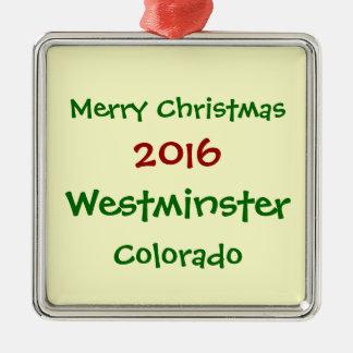 新しい2016年のウエストミンスターコロラド州のクリスマスのオーナメント メタルオーナメント