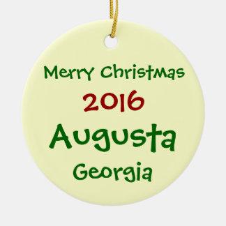 新しい2016年のオーガスタジョージアのメリークリスマスのオーナメント セラミックオーナメント