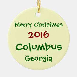 新しい2016年のコロンブスジョージアのクリスマスのオーナメント セラミックオーナメント