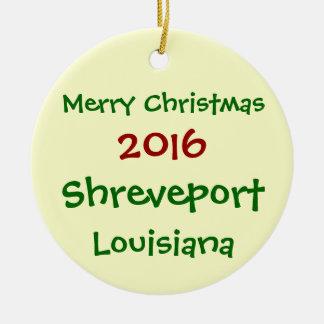 新しい2016年のシュリーブポートルイジアナのクリスマスのオーナメント セラミックオーナメント