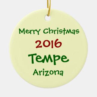 新しい2016年のテンペアリゾナのメリークリスマスのオーナメント セラミックオーナメント