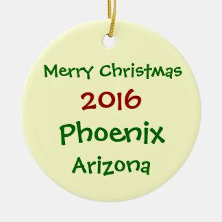 新しい2016年のフェニックスアリゾナのメリークリスマスのオーナメント セラミックオーナメント
